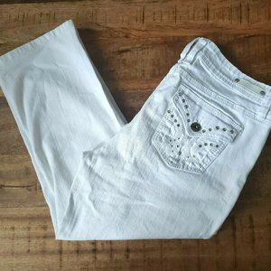 Royalty by YMI White Cropped Jeans